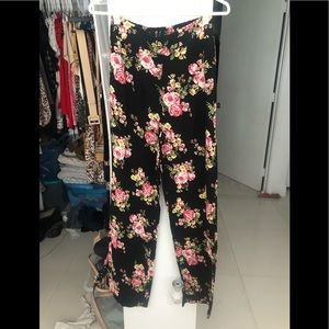 Forever 21 High Waisted Floral Pants